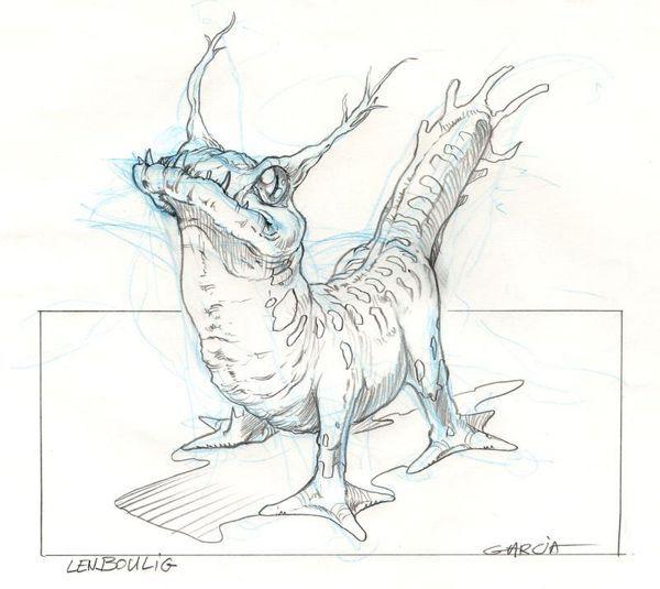 Concept Art de créature, inspirant une modélisation